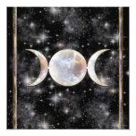 Moonstone triple de la luna comunicados personalizados