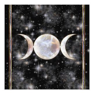 """Moonstone triple de la luna invitación 5.25"""" x 5.25"""""""