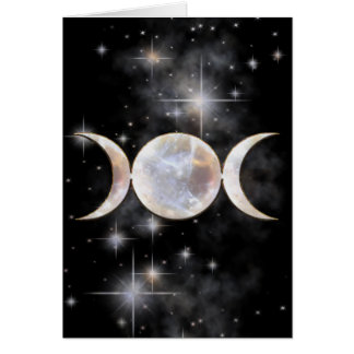 Moonstone triple de la luna tarjeta de felicitación