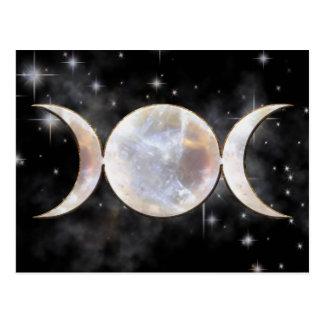 Moonstone triple de la luna tarjeta postal