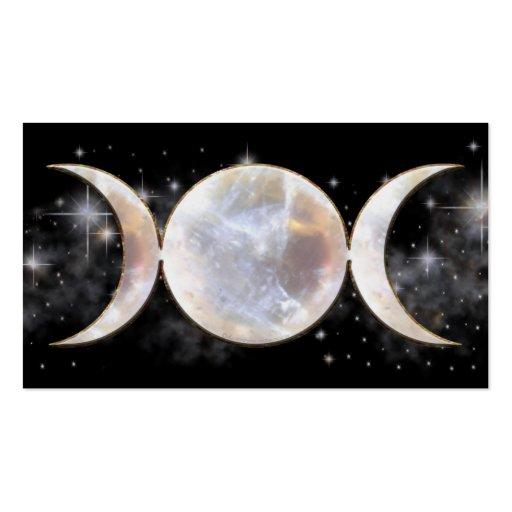 Moonstone triple de la luna tarjetas de visita