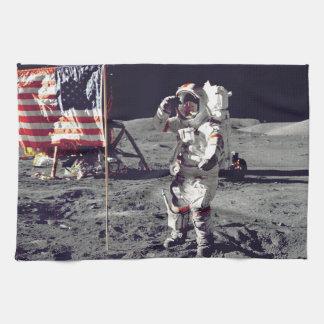 Moonwalk Apollo 17 Hand Towel