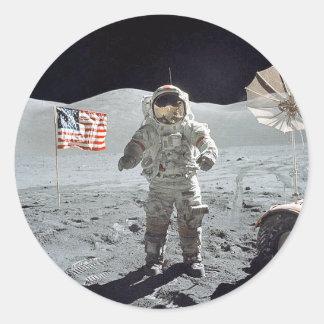 Moonwalk Classic Round Sticker