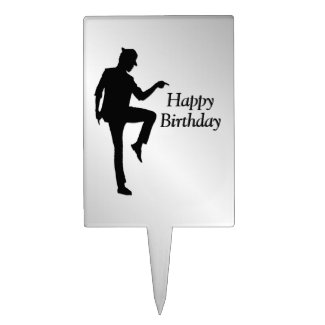 Moonwalk Dancer Birthday Cake Topper