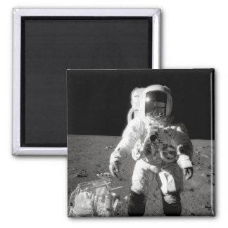 Moonwalk de Apolo 12 Imán Para Frigorífico