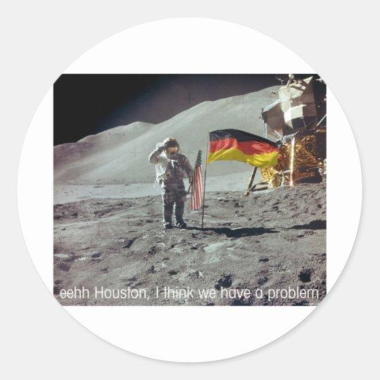 moonwalk Deutschland Classic Round Sticker