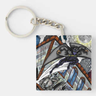 Moonwill Leaping in the Night Single-Sided Square Acrylic Keychain