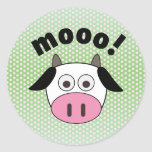 Mooo! Cow Classic Round Sticker