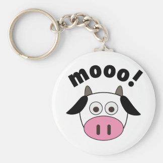 Mooo! Cow Keychain