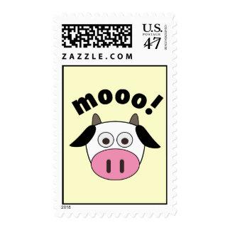 Mooo! Cow Postage Stamp
