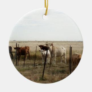 Moooo Cows Ceramic Ornament