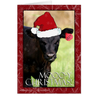 Moooo-y Christmas! Card