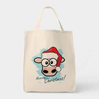 Mooooooy Christmas Festive Cow Tote Bag