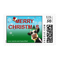 Mooootiful Christmas Cow Postage