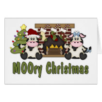 MOOORY Chirstmas Cow Christmas Tees, Gifts Card
