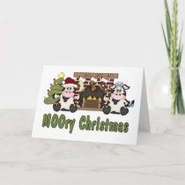 MOOORY Chirstmas Cow Christmas Tees, Gifts Holiday Card