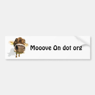 Mooove On dot org Car Bumper Sticker