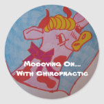 Moooving On....With Chiropractic Sticker