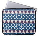 Moor African Arabic Pattern Design Blue Purple Laptop Computer Sleeve