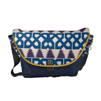 Moor African Arabic Pattern Design Blue Purple Courier Bags