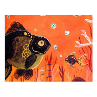 Moor Goldfish Postcard
