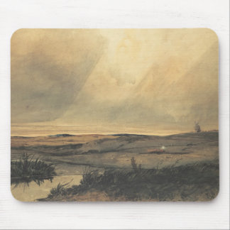 Moor with windmill mouse pad