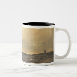 Moor with windmill Two-Tone coffee mug