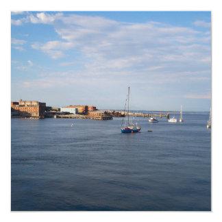 Moorage de Townsend del puerto Invitación 13,3 Cm X 13,3cm
