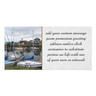 Moorage local tarjeta fotografica personalizada