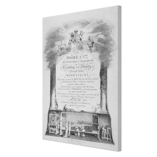 Moore & Co. Trade Card Canvas Print