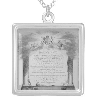 Moore & Co. Trade Card Silver Plated Necklace