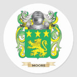 Moore Coat of Arms (Family Crest) Classic Round Sticker