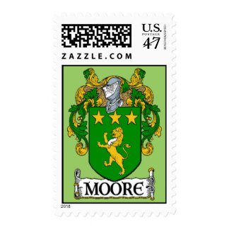 Moore Coat of Arms Postage Stamps
