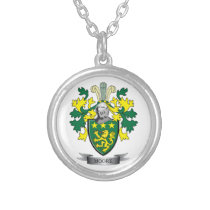 Moore Coat of Arms Silver Plated Necklace