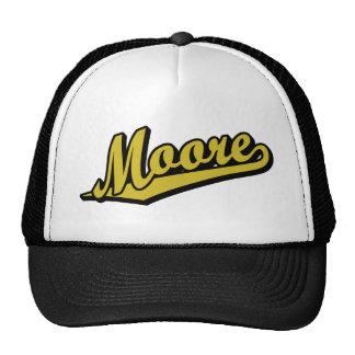 Moore en oro gorros