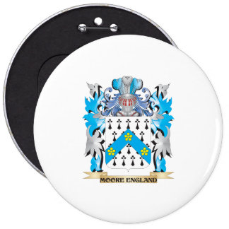 Moore-England Coat of Arms - Family Crest Pinback Button