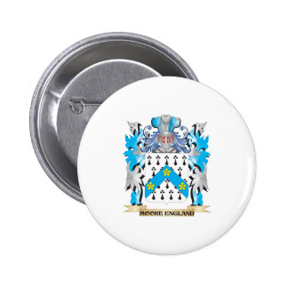 Moore-England Coat of Arms - Family Crest Pinback Buttons