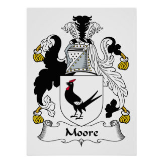 Moore Family Crest Posters