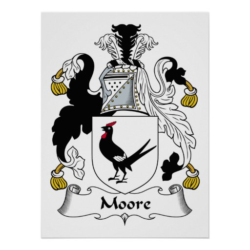 Moore Family Crest Poster