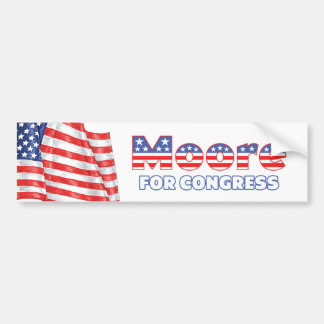 Moore for Congress Patriotic American Flag Bumper Sticker