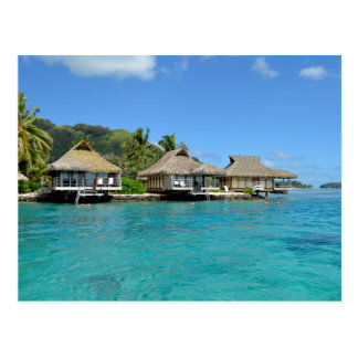 Moorea bungalows postcard