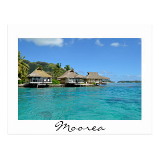 Moorea bungalows postcard