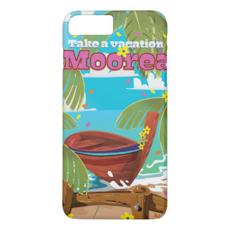 Moorea French Polynesia Holiday travel poster iPhone 7 Plus Case