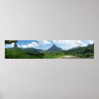 Moorea Island, French Polynesia. Poster