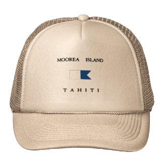 Moorea Island Tahiti Alpha Dive Flag Trucker Hat