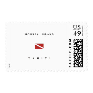 Moorea Island Tahiti Scuba Dive Flag Postage Stamp