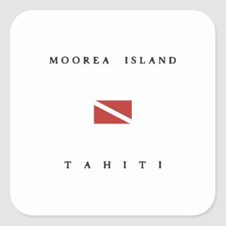 Moorea Island Tahiti Scuba Dive Flag Sticker
