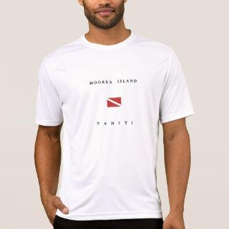 Moorea Island Tahiti Scuba Dive Flag T Shirt