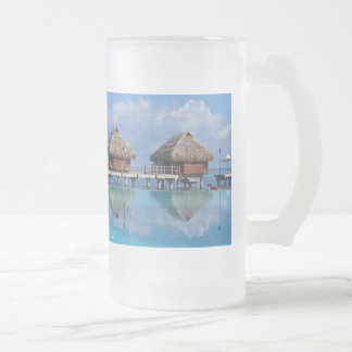 Moorea Mirror Frosted Glass 16 Oz Frosted Glass Beer Mug