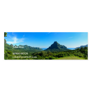 Moorea panorama business card with contact details